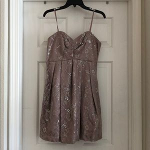 Pink and silver floral dress